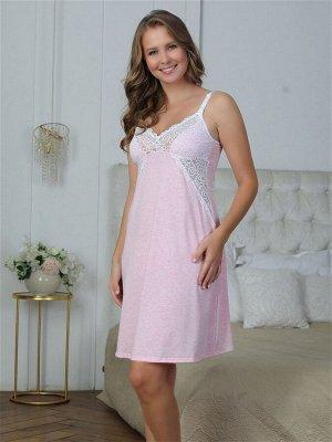 Сорочка для кормления Olivia розовый меланж  (хлопок 55%;РЕ 30% РА 10%, лайкра 5%)