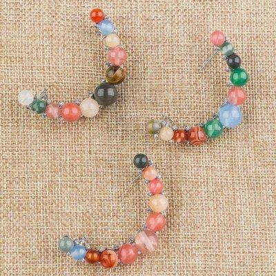 Самоцветы - серьги, пусеты из камней в наличии — Броши — Броши
