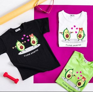 """Детская футболка хлопок """"Авокадо""""  салатовая"""