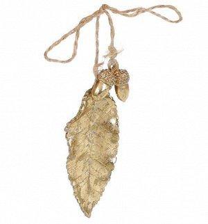 Подвеска 829-324 Лист золото 15*4см полистоун