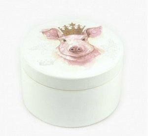 Шкатулка E2717207 Свинка в короне 7см керамика