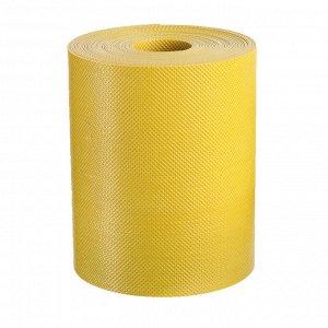 Лента бордюрная, 0.15 ? 10 м, толщина 1.2 мм, пластиковая, жёлтая, Greengo