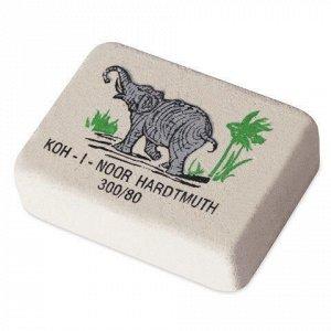 """Ластик KOH-I-NOOR """"Слон"""", 26х18,5х8 мм, белый/цветной, прямоугольный, натуральный каучук, 300/80, 0300080018KDRU"""