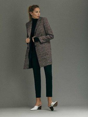 Укороченное пальто из твида