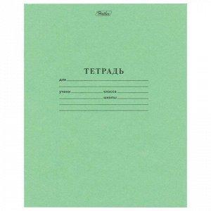 Тетрадь ЗЕЛЁНАЯ обложка 12 листов HATBER, офсет, косая линия с полями, 12Т5D, T52440