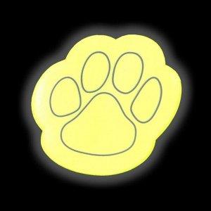 Светоотражающая наклейка «Лапка», 4 шт на листе, 5,3 ? 5,3 см, цвет МИКС