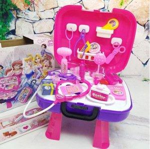 Набор доктора 4 в 1 в розовом чемодане, 37 предметов Принцесса Disney