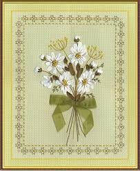 Набор для вышивки лентами Букет белых ромашек