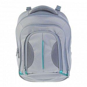 Рюкзак молодёжный, Luris «Фаворит», 41 x 31 x 12 см, эргономичная спинка, серый
