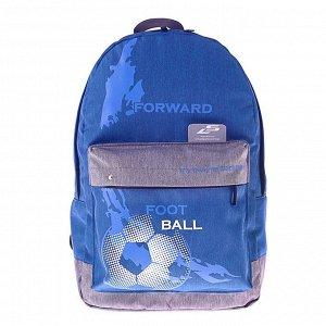 Рюкзак молодёжный Luris «Эра», 38 x 28 x 19 см, эргономичная спинка, «Футбол»