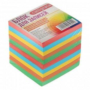 Блок бумаги для записей 9 х 9 х 9 см,  80 г/м?, непроклеенный, цветной, интенсив