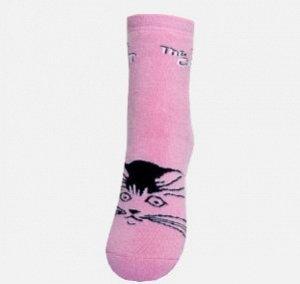 Носки детские махра розовый