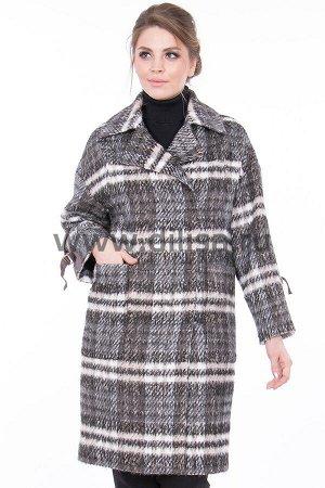 Пальто Chiago 8047_Р (Коричневый/серый Х191)
