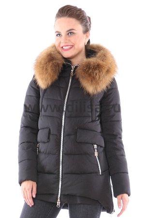 Куртка Visdeer с мехом 6351_Р (Черный 01)