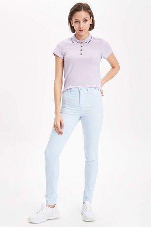 Голубые летние турецкие джинсы
