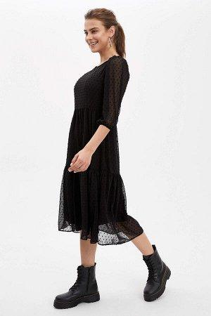 Платье черное с комбинацией в комплекте