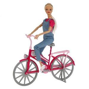 B111-S-BO Кукла 29см София на велосипеде, сгибаются руки и ноги, с аксесс. в кор. София и Алекс в кор.24шт