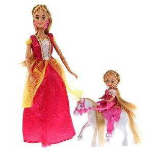 """66325-20-S-BB Кукла 29см София принцесса с дочерью на лошадке, с аксессуарами """"София и Алекс"""" в кор.24шт"""