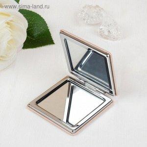 Зеркало Зеркало складное, с увеличением, цвет пудровый +