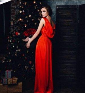 Платье Марго, алый