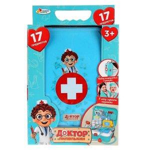 "B1750884-R Набор доктора в рюкзаке, 17 предметов, ""Доктор пилюлькин"" в кор. ТМ ""Играем вместе"" в кор.2*18шт"