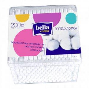 Ватные палочки Bella «Cotton», 200 шт. в пласт. кор.