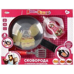 """ZY748571-R Набор посуды Маша и Медведь сковорода на бат. с набором продуктов тм """"играем вместе"""" в кор.2*18шт"""