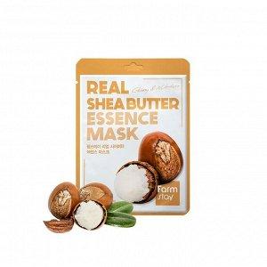 Тканевая маска для лица FARMSTAY REAL SHEA BUTTER ESSENCE MASK