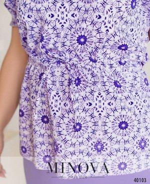 Костюм №851-фиолетовый