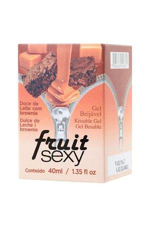 Массажное масло для поцелуев intt fruit sexy dulce de leche and brownie с разогревающим эффектом