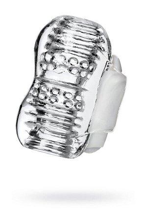 Мастурбатор нереалистичный lingam, tpe, прозрачный, 9 см