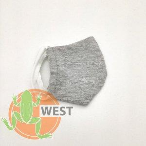 Многоразовая двухслойная Детская защитная маска 1 шт.