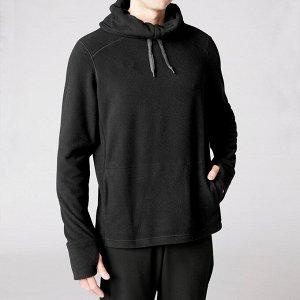Толстовка для йоги флисовая мужская черная kimjaly