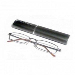 Очки корригирующие карандаш с футляром серые (узкие) серые