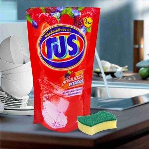 """LION """"PRO"""" Средство для мытья посуды (мягкая упак.)  Berry Power (с ягодным ароматом)  Таиланд"""