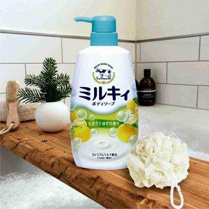 Молочное мыло для тела с аминокислотами шёлка и ароматом свежести MILKY BODY SOAP 550мл