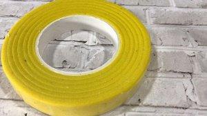 Тейп лента, 1,2 см, цвет желтый