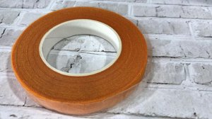 Тейп лента, 1,2 см, оранжевый