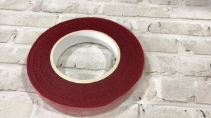 Тейп лента, 1,2 см, красный