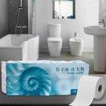 """""""Breath"""" Трехслойная туалетная бумага (в индивидуальной упаковке) 10 рулонов"""
