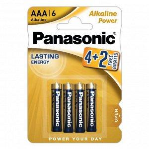 Батарейка Panasonic Alkaline LR03 6BP 4+2