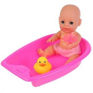 Y20BB-BATH-BAG-RU ПУПС ФУНКЦ, ТМ Карапуз 20см, пьет, писает, закрыв. глазки, в наб. ванночка и аксесс в пак в кор.24шт