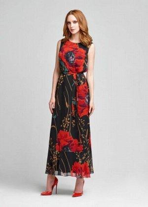 ПЛАТЬЕ ЧЕРНЫЙ Платье-макси из роскошного шелкового материала, на легком подкладе. Платье макси по праву заслуживает звание летнего хита. В завораживающем легком платье вы всегда будете в центре вниман