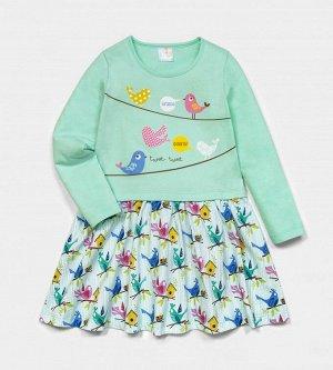 Платье для девочки, кулирка