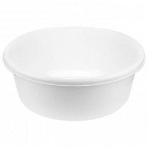 Таз пластмассовый 14л, д40,5см, h15см, белый (Россия)