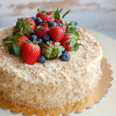🧁 «Наполеон». Печем накануне доставки. — Свежие торты, пирожные. Печем ночью перед раздачей. — Торты и пирожные