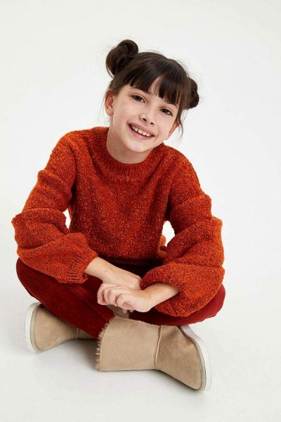 DEFACTO - детская коллекция.   — Девочки 3-14 лет свитеры и джемперы — Пуловеры и джемперы