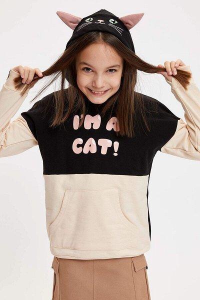 DEFACTO - детская коллекция.   — Девочки 3-14 лет толстовки, свитшоты — Толстовки и свитшоты