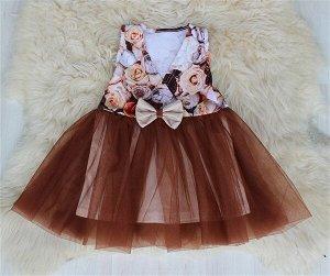 Платье «Оленька» КОРИЧНЕВЫЙ