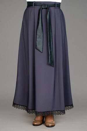Красивая длинная юбка с кружевом
